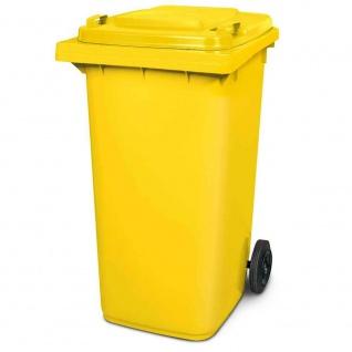 Mülltonne, Inhalt 240 Liter, HxBxT 1075 x 580 x 730 mm, Farbe gelb