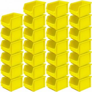 """27x Sichtbox"""" CLASSIC"""" FB 4, LxBxH 230/200x140x122 mm, Inhalt 3, 7 Liter, gelb"""