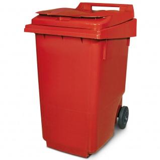360 Liter DIN Mülltonne, HxBxT 1100 x 600 x 875 mm, rot