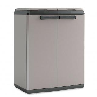 Mülltonnenbox aus Kunststoff für 2x 110-Liter-Müllsäcke, BxTxH 680x390x850 mm