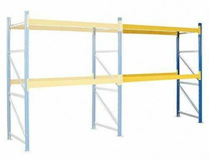 Anbauregal zu Palettenregal für 9 Europaletten, BxTxH 2785x1100x3000 mm