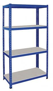 Packtisch // Werkbank HxBxT 900 x 900 x 600 mm blau Tragkraft 265 kg// Boden