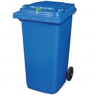 Müllbehälter mit Dokumenteneinwurf, BxTxH 580 x 740 x 1070 mm, 240 Liter, blau
