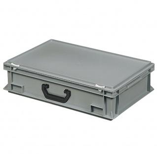 Euro-Koffer mit 1 Tragegriff auf einer Längsseite, LxBxH 600x400x165 mm, grau