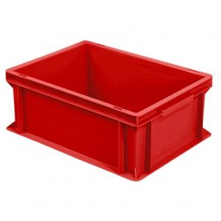 Eurobehälter mit 2 Griffleisten, LxBxH 400 x 300 x 170 mm, rot