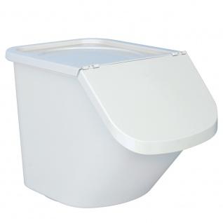 Vorratsbehälter / Zutatenspender, Inhalt 40 Liter, LxBxH 610 x 430 x 450 mm, Behälter weiß, Deckel weiß