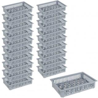 20x Spülkorb für Schnapsgläser, 33 Fächer, LxBxH 390 x 260 x 80 mm, grau