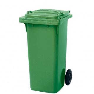 Mülltonne, Inhalt 120 Liter, HxBxT 930 x 480 x 550 mm, Farbe grün