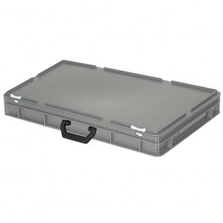 Mehrzweck-Koffer / Kunststoffkoffer, Industriequalität, lebensmittelecht, grau, LxBxH 600 x 400 x 85 mm