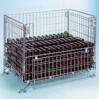 Gitterbox/ Faltbehälter, LxBxH 1190 x 990 x 1105 mm, Tragkraft 800 kg