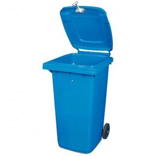 Abschließbare 120 Liter Mülltonne, blau, BxTxH 480 x 550 x 930 mm