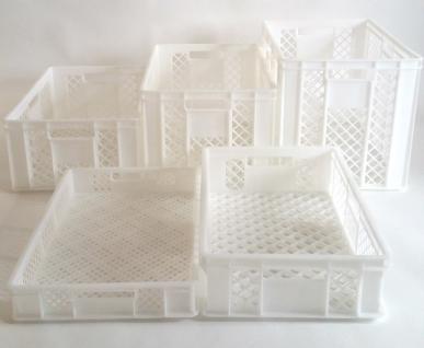 B-Ware Kisten Stapelbehälter Lagerkasten Brötchenkorb Kunststoffkiste Kistenset - Vorschau 2