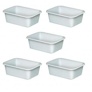 5 Lebensmittelwannen, Inhalt 12 Liter, LxBxH 440 x 320 x 155 mm, weiß, PE-HD