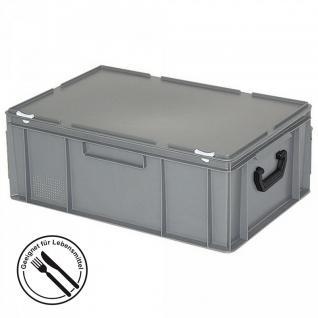 Kunststoffkoffer / Gerätekoffer, Industriequalität, Euromaß LxBxH 600 x 400 x 230 mm