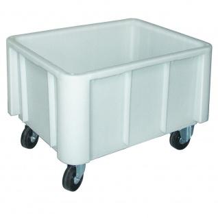 Großbehälter auf Rollen, weiß, Inhalt 140 Liter, LxBxH 800 x 600 x 550 mm