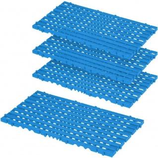 4x Bodenrost aus Kunststoff, LxBxH 800 x 400 x 25 mm, Farbe blau