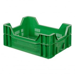 Eurobehälter / Gemüsekiste / Obststeige, LxBxH 400x300x165 mm, 10 Liter, grün