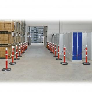 Kettenpfosten Set mit 20 Ständern, 38 m Kette, 1000 mm hoch, Fuß betongefüllt