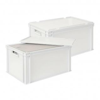 2x 35 Liter Thermobox aus EPS in Eurobox 600x400 mit Deckel, weiß