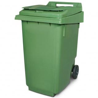 360 Liter Mülltonne, DIN EN ISO 9001/DIN EN ISO 14001, HxBxT 1100x600x875 mm, grün