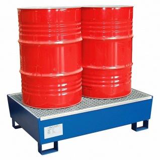 Auffangwanne mit feuerverzinktem Gitterrost, LxBxH 1235x815x350 mm +Ölwechselset