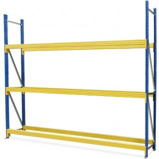 Reifenregal, BxTxH 3080x400x2500 mm, Fachbreite 3000 mm, Tragkraft 775 kg/Ebene