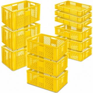LxB 600x400 mm 12x Stapelkorb//Bäckerkisten H 90 mm//150 mm//240 mm//320 mm grau