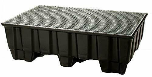 Auffangwanne Kunststoff mit verz. Gitterrost, LxBxH 1230x830x400 mm+Ölwechselset