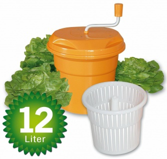 Gastro Salatschleuder, Inhalt 12 Liter, HxØ 430 x 330 mm, orange