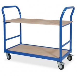 Tischwagen mit 4 Lenkrollen, LxBxH 1140 x 500 x 890 mm, Tragkraft 250 kg