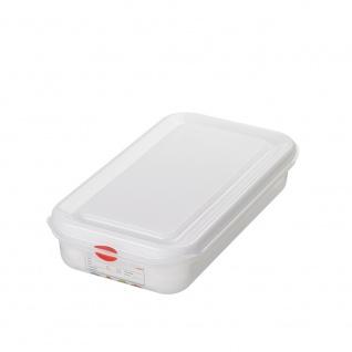 GN-Vorratsdose/Frischhaltebox mit Deckel, GN1/3, LxBxH 325 x 176 x 65 mm, Inhalt 2, 5 Liter