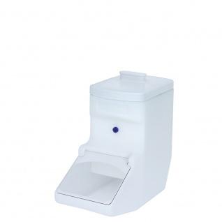 Vorratsbehälter / Zutatenspender, 21 Liter, LxBxH 475 x 205 x 470 mm, Farbe weiß