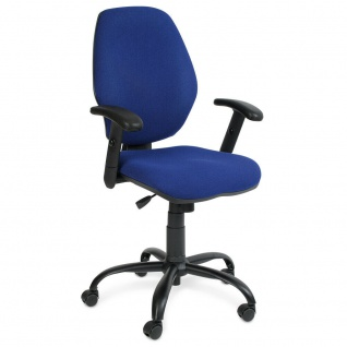 "Bürostuhl "" Perfekt"" m. Armlehnen, extra hohe Rückenlehne 520 mm, marineblau"