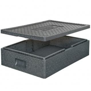 Thermobox mit Deckel, 32 Liter, LxBxH 685 x 485 x 180 mm, Farbe anthrazit