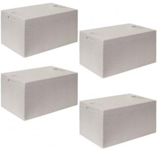 4 Thermoboxen mit Deckel, LxBxH 545x350x300 mm, Volumen 35 Liter, aus EPS, grau