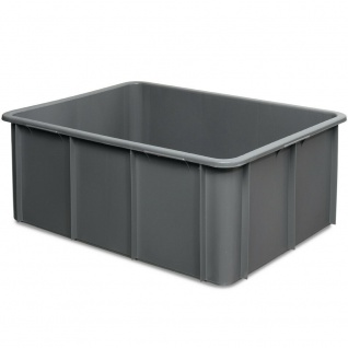 Schwerlastbehälter, LxBxH 800 x 600 x 320 mm, 120 Liter, grau, lebensmittelecht