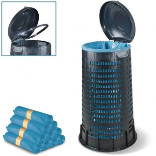 1x Müllsackständer, Klemmring für 120 l Säcke, 410/520 mm, H 880 mm + 250 Säcke