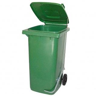 Mülltonne, Inhalt 80 Liter, grün, mit Fußpedal zur Deckelöffnung