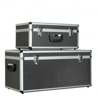 Alurahmen-Transportboxen, 2er-Set, 65 Liter u. 25 Liter, anthrazit, abschließbar