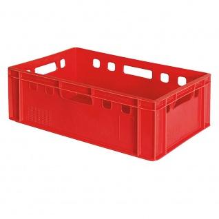 Fleischkasten / Eurobehälter E2, LxBxH 600 x 400 x 200 mm, rot, lebensmittelecht