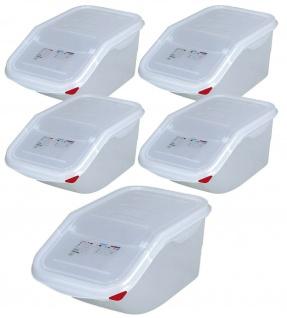 5 Zutatenbehälter, Inhalt 7 Liter, BxTxH 200x395x200 mm, Polypropylen, weiß