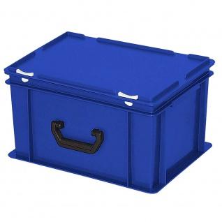 Aufbewahrungskoffer / Kunststoffkoffer, LxBxH 400 x 300 x 230 mm, 21 Liter, blau