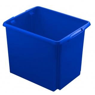Drehstapelbehälter, Inhalt 45 Liter, Farbe blau, LxBxH 455 x 360 x 360 mm