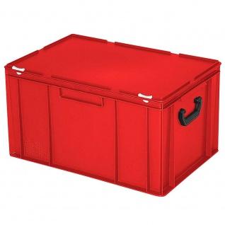 Mehrzweckkoffer, rot, LxBxH 600 x 400 x 330 mm, mit 2 Tragegriffen auf den Stirnseiten