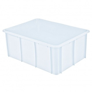 Schwerlastbehälter, 120 Liter, LxBxH 800 x 600 x 320 mm, weiß, lebensmittelecht