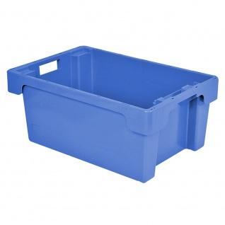 Drehstapelbehälter, LxBxH 600 x 400 x 250 mm, Inhalt 40 Liter, blau, Boden und Wände geschlossen