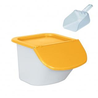 Futterbehälter 15 Liter, Vorratsbehälter für Trockenfutter, inkl. Portionierschaufel