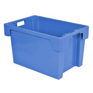Drehstapelbehälter, LxBxH 600 x 400 x 400 mm, 70 Liter, blau, lebensmittelecht