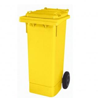 Mülltonne nach EN 840 und RAL-GZ 951/1, 80 Liter, gelb, BxTxH 445 x 520 x 930 mm