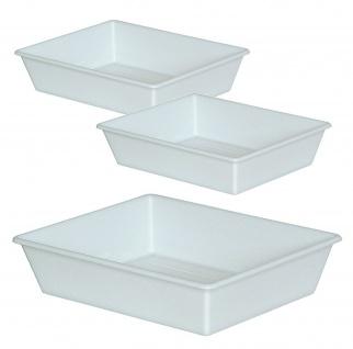 3 Lebensmittelwanne, 12, 4 Liter, LxBxH 625/525 x 525/430 x 140 mm, weiß